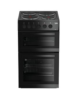 beko-kd533ak-50cm-twin-cavity-electric-cooker-black