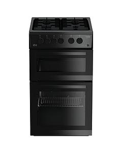beko-kdg582k-50cm-twin-cavity-gas-cooker-black-with-connection