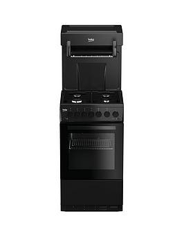 beko-ka52nek-50cm-single-oven-high-level-grill-gas-cooker-black