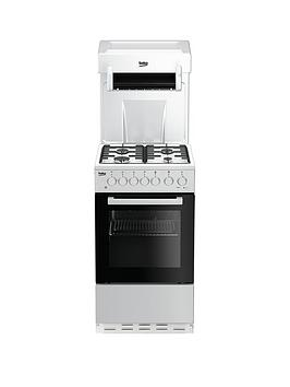 Beko Beko Ka52New 50Cm Single Oven With High Level Grill Gas Cooker - White Picture