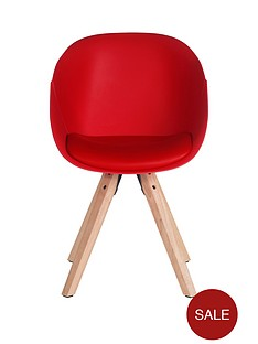 pair-of-pyramid-dining-chairs--red