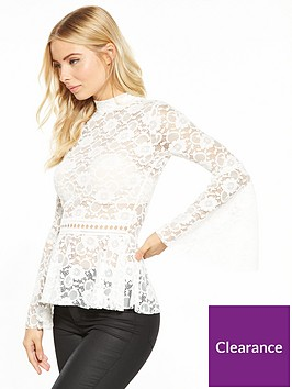 v-by-very-fluted-cuff-lace-top