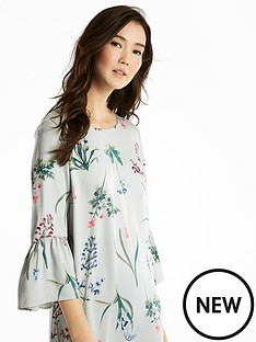 joules-gardenia-frill-sleeve-woven-dress
