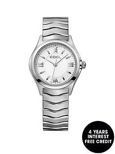 ebel-wave-1216374-white-dial-stainless-steel-bracelet-ladies-watch
