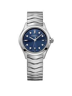 ebel-ebel-wave-navy-dial-diamond-set-stainless-steel-bracelet-ladies-watch