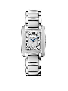 ebel-ebel-brasilia-roman-numeral-stainless-steel-bracelet-ladies-watch