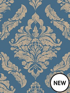 boutique-damaris-bluegold-wallpaper