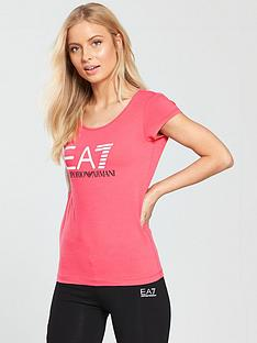 emporio-armani-ea7-shiny-logo-t-shirt-calypso-coral
