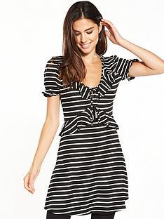 miss-selfridge-stripe-jersey-tea-dress