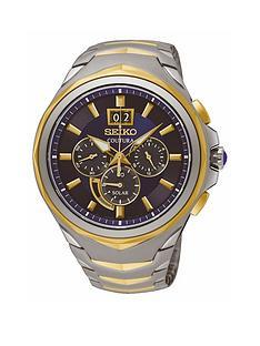 seiko-blue-dial-2nbsptone-chronograph-mensnbspwatch
