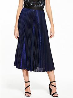 coast-velvet-pleated-skirt