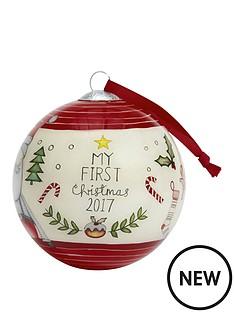 mamas-papas-mamas-amp-papas-my-1st-christmas-bauble--red
