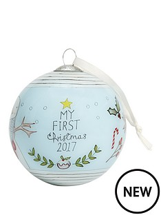 mamas-papas-mamas-amp-papas-my-1st-christmas-bauble--blue