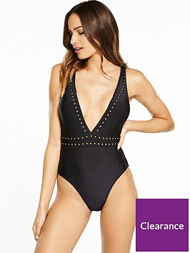 v-by-very-stud-plunge-swimsuit-black