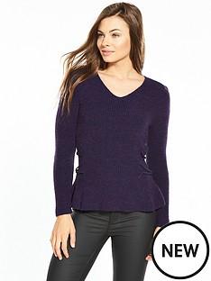 v-by-very-power-shoulder-lace-up-side-jumper-grape