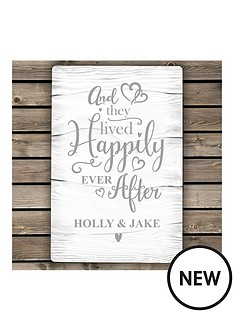 personalised-happy-ever-after-metal-sign