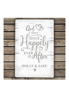 Very Personalised Happily Ever After Metal Sign Picture