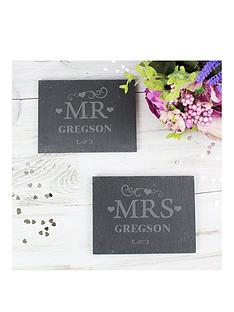 personalised-set-of-2-slate-mr-amp-mrs-coasters
