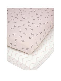 mamas-papas-mamas-amp-papas-pk-2-cot-bed-fitted-sheets-pink