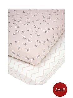 mamas-papas-mamas-papas-pk-2-cot-bed-fitted-sheets-pink