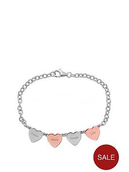 keepsafe-sterling-silver-personalised-4-heart-bracelet