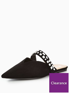v-by-very-harmony-embellished-pointed-flat-mule-black