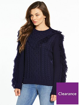v-by-very-fringe-trim-detail-cable-jumper