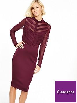 ax-paris-cage-top-bodycon-dress-plum