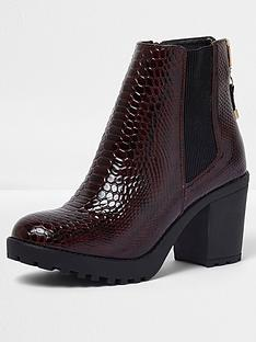 river-island-river-island-zip-up-chunky-croc-ankle-boot