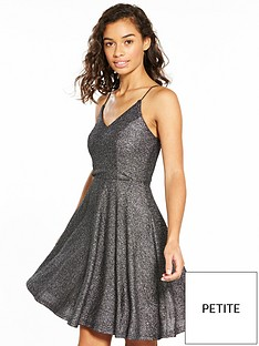 ax-paris-petite-sparkle-skater-dress-black