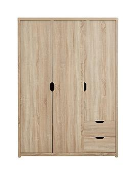 Very  Aspen 3 Door, 2 Drawer Wardrobe