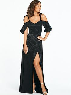 myleene-klass-jacquard-ruched-side-maxi-dress