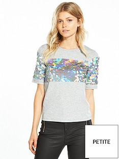 v-by-very-petite-sequin-panel-tshirt