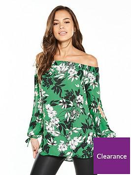 v-by-very-floral-bardot-top