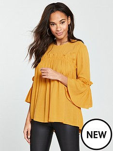 v-by-very-tiered-smock-top