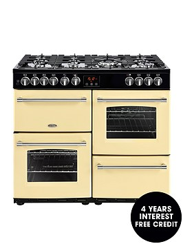 belling-farmhouse-100dft-100cm-dual-fuel-range-cooker-cream