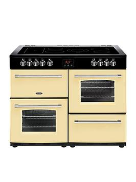 Belling   100E Farmhouse 100Cm Electric Ceramic Range Cooker - Cream