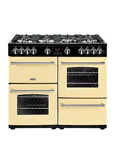 belling-100g-farmhousenbsp100cm-gas-range-cooker-cream