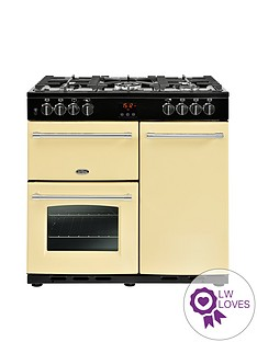belling-belling-farmhouse-90dft-90cm-dual-fuel-range-cooker-cream