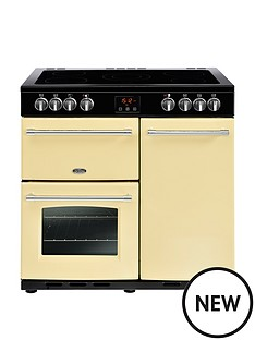 belling-belling-farmhouse-90e-90cm-electric-ceramic-range-cooker-cream-with-connection