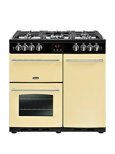 belling-belling-farmhouse-90g-90cm-gas-range-cooker-cream
