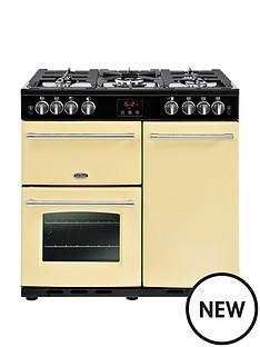 belling-belling-farmhouse-90g-90cm-gas-range-cooker-cream