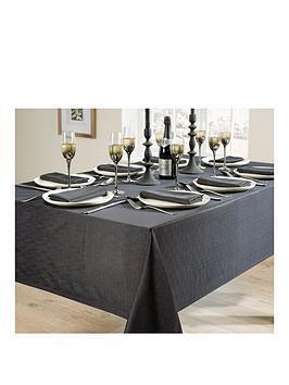 linen-look-8-place-setting-tablecloth-and-napkin-set-ndash-black