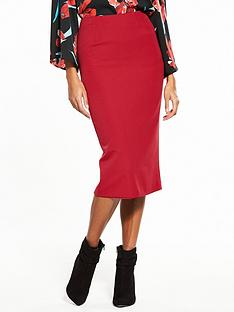 v-by-very-the-zip-back-midi-skirt-red