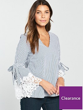 v-by-very-lace-sleeve-detail-stripe-top-stripe