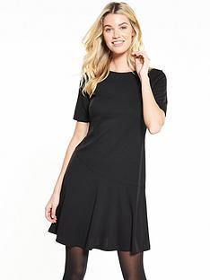 v-by-very-textured-asymmetric-hem-dress