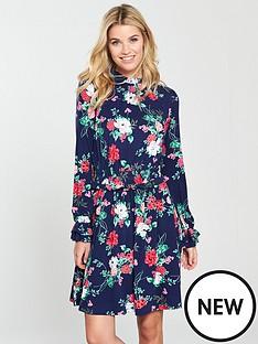 v-by-very-shirrednbspwaist-skater-dress-floral-print