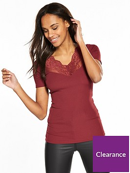 v-by-very-lace-insert-rib-top-dusty-rose