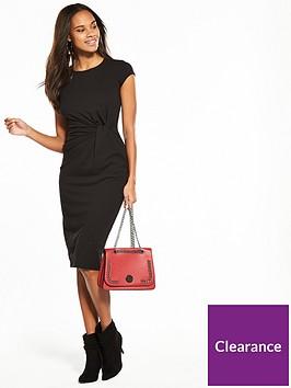 v-by-very-jersey-twist-front-midi-dress-black