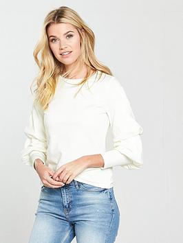 v-by-very-balloon-sleeve-top-ivory
